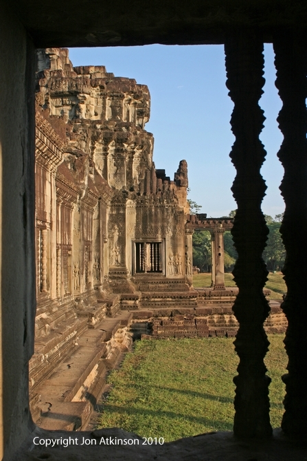 View of External Wall of Angkor Wat Temple