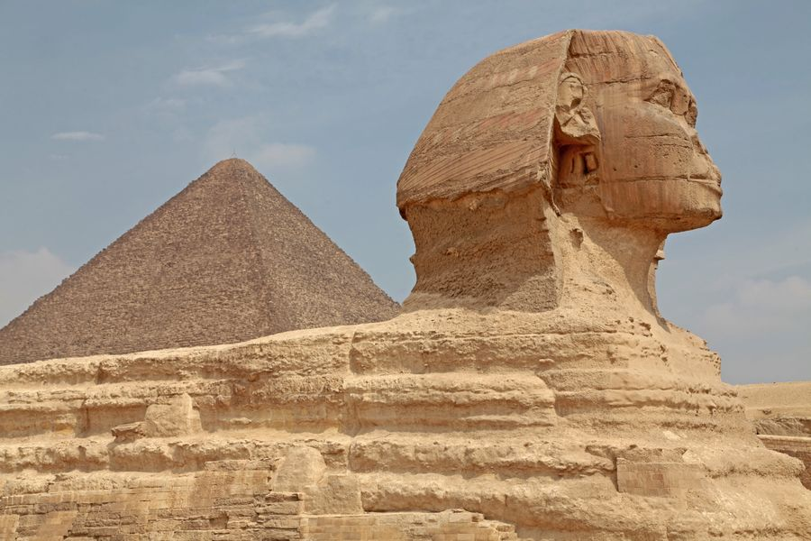 Sphinx & Great Pyramid, Giza