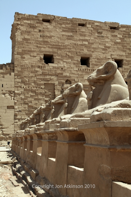 Avenue of Ram-headed Sphinxes Karnak Temple