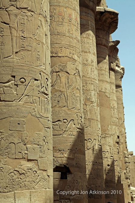 Pillars of the Great Hypostyle Hall from precinct of Amun-Re