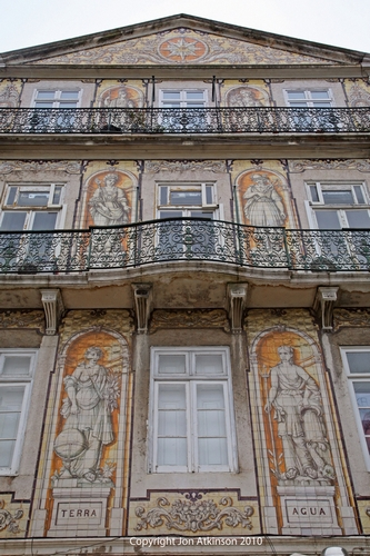 Tiled Building on Rua Da Trindade, Lisbon.