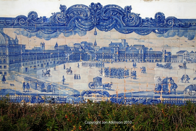 Azulejo Tiles, Church Santa Luzia, Lisbon