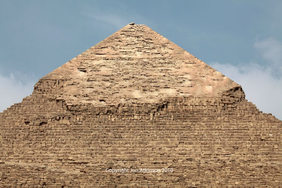 Summit of Pyramid, Khafre, Giza